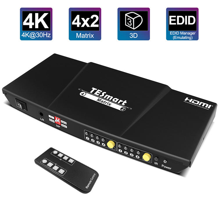 support 1080p 4k hdmi matrix 4x2 hdcp customized for computers-3