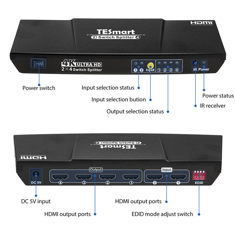 aluminum alloy hdmi splitter 1x16 factory price for display device-1