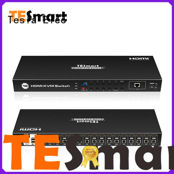 Tesla Elec seamless kvm switch 8 port customized for checkout counter
