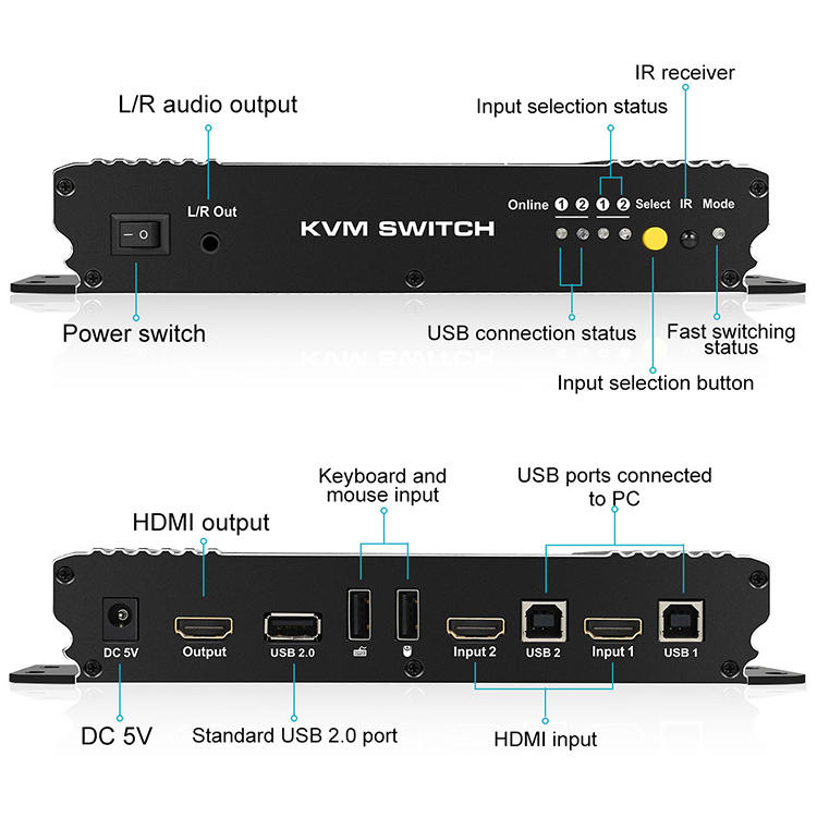 Tesla Elec multiview hdmi kvm switch 4 port for computer-1
