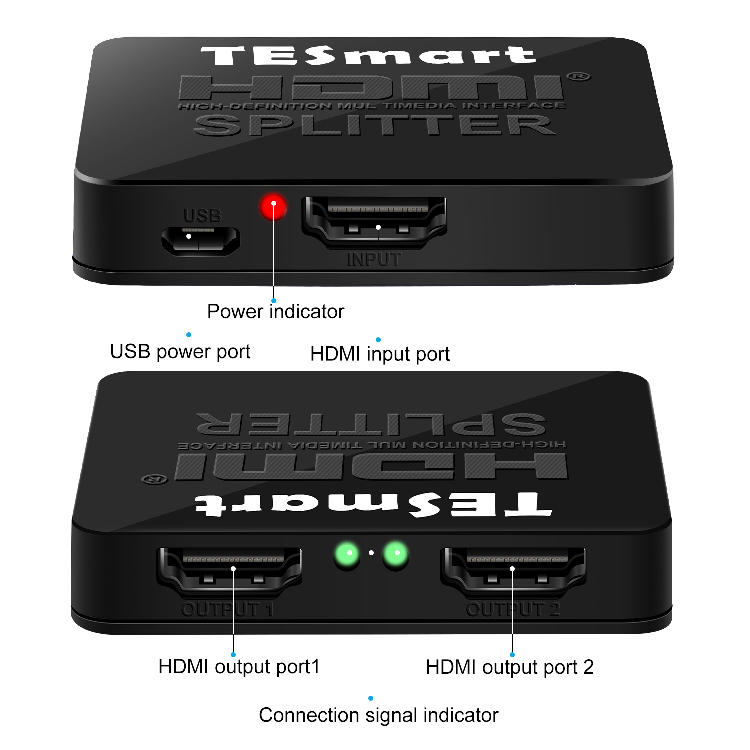 hdmi video splitter for media player Tesla Elec-1