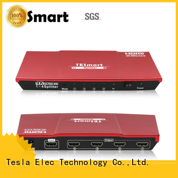 Tesla Elec popular hdmi splitter for dual monitors supplier for DVD player