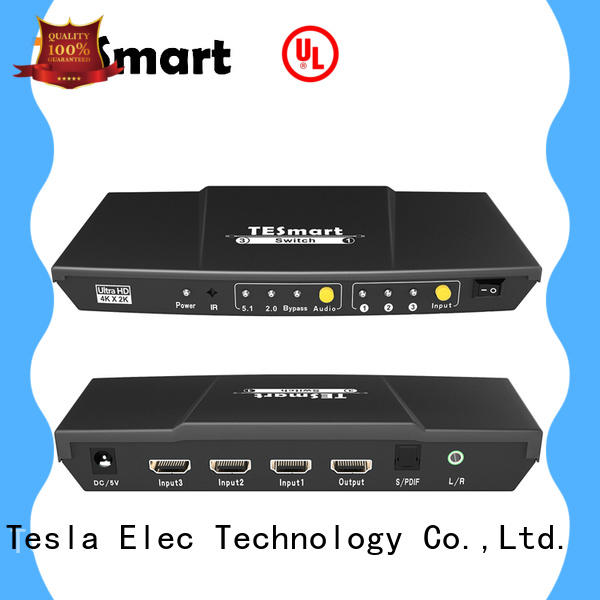 Tesla Elec audio out hdmi switch 4k factory for display device