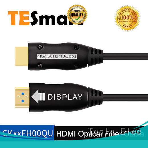 Tesla Elec high speed fiber optic hdmi cable with good price for projector