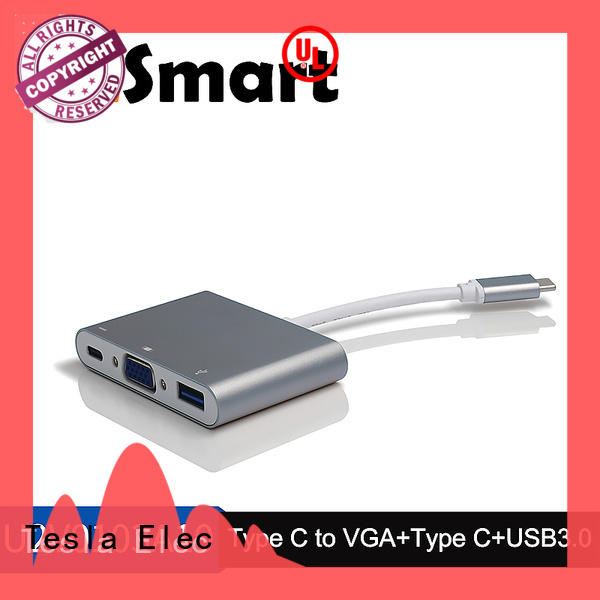 Aluminum Alloy Type-C to VGA and USB3.0 adapter