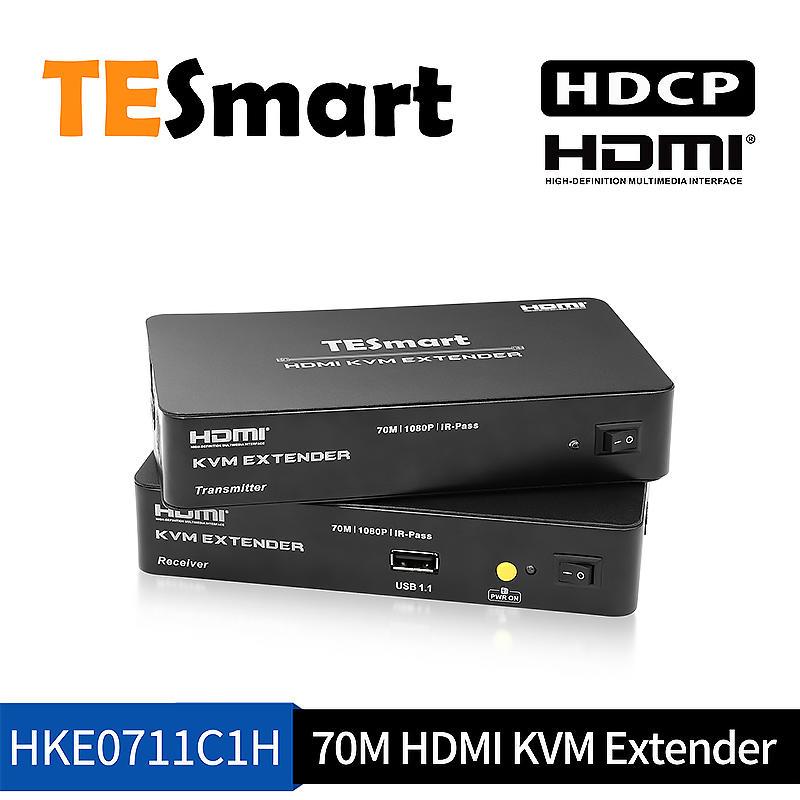 70M Aluminum Alloy HDMI KVM Extender