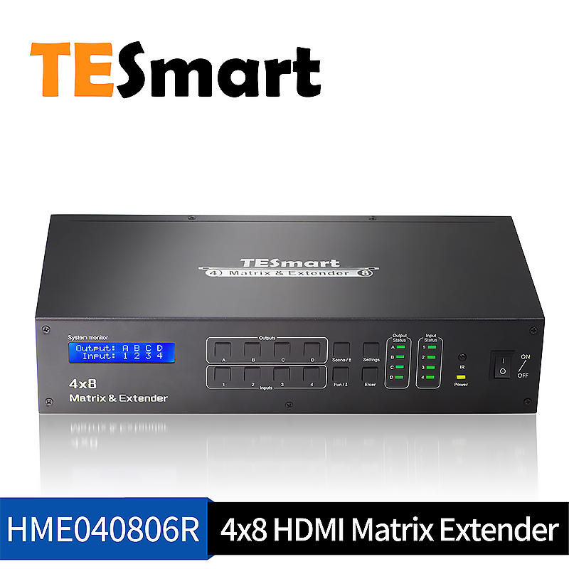 Best 4x8 HDMI Matrix W/ IR extender