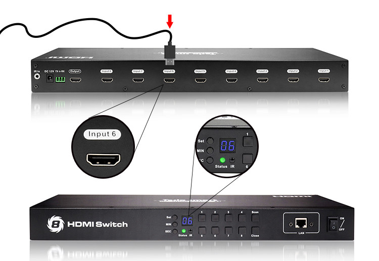Tesla Smart New Product 8x1 HDMI Switch-4