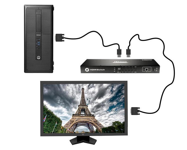 Tesla Smart New Product 8x1 HDMI Switch