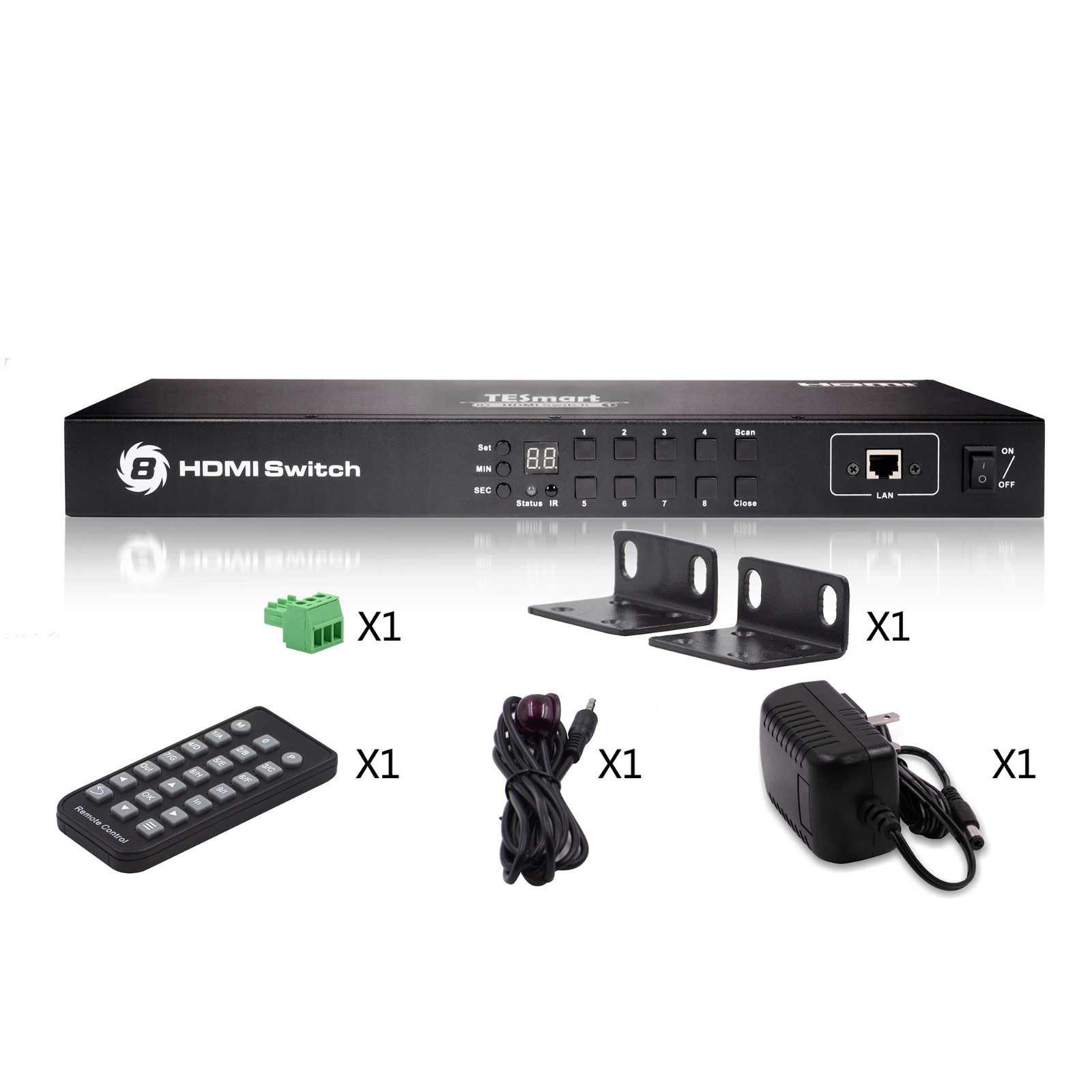 Tesla Smart New Product 8x1 HDMI Switch-6