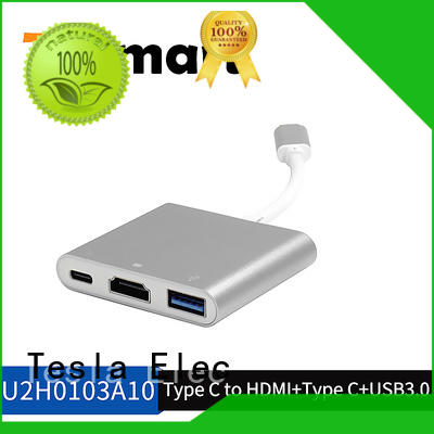 Tesla Elec HDMI output usb type c to hdmi adapter customized for projector