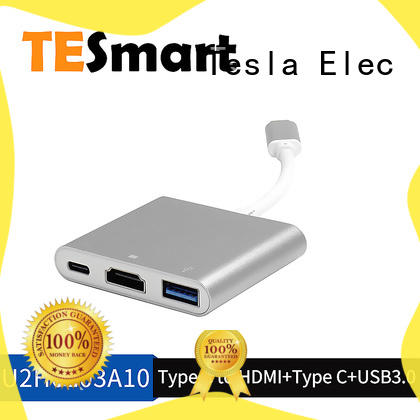 Tesla Elec aluminum alloy usb type c to hdmi adapter customized for mobile phone